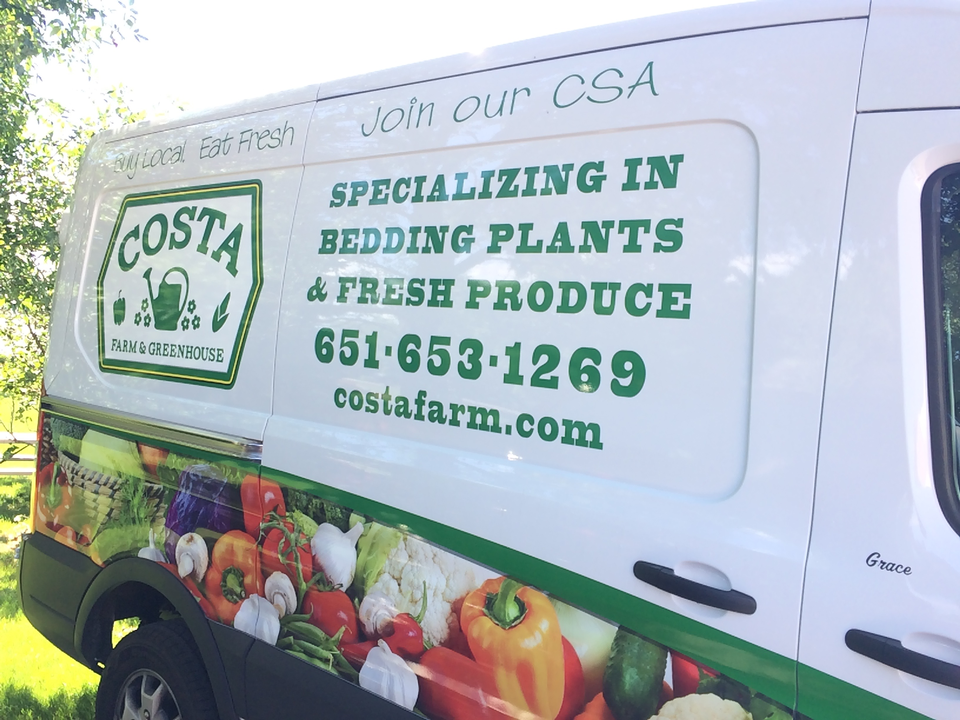 CSA Delivery Van...so sweet!